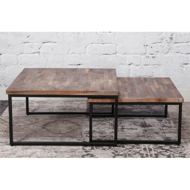 Zi Apola Teak Coffee Table set/2 75x75