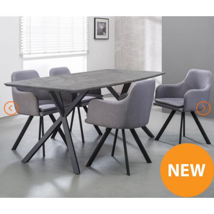 82af7d637717f2 ZI Findal Dining-table 190x90cm 3D Concrete Look