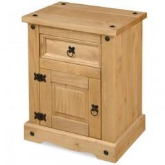 Corona 1 Door - 1 Drawer Bedside Cabinet