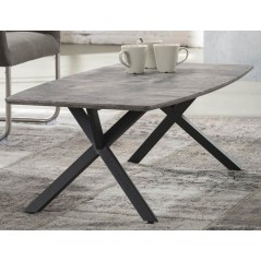 Zi Findal Grey Coffee Table 120x60cm Oval 3d texture