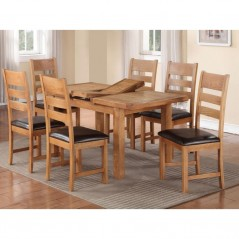 Harvest Oak 4×3 Extension Dining Table