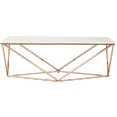 Kian Allure Coffee Table Geometry V Rectangular Gold