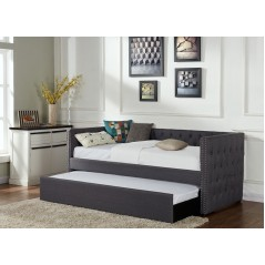 Gi Lin Grey Fabric Daybed