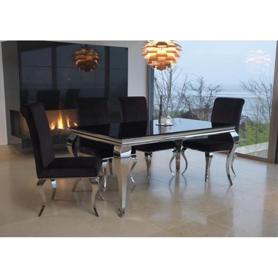 Louis dining table Dining room furniture glass