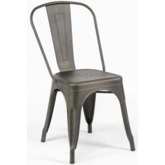 ZI Metal Grey Industrial Chair
