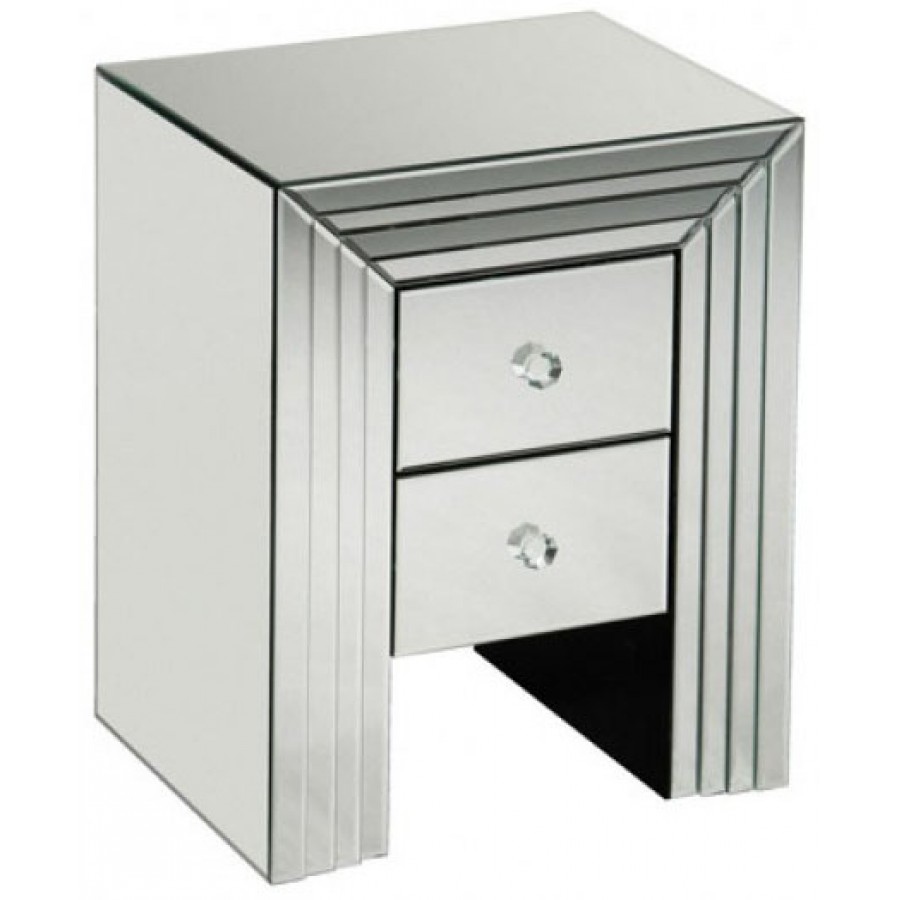 New line mirrored 2 drawer unit fb for Mirrored drawer unit