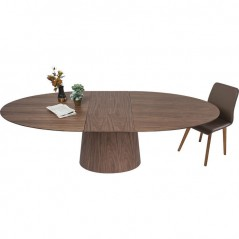 Extendable Oval Table Benvenuto Walnut 200(50)x110cm