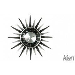 Wall Clock - Black and Silver-star