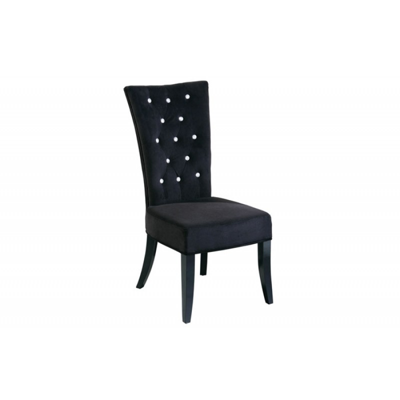 Black Velvet chair with Diamante Detail