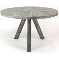 ZI Grando Round Industrial Dining Table 120