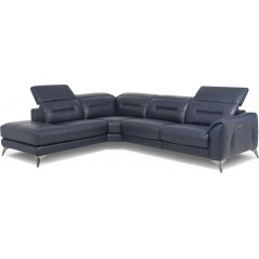 Kass Corner Sofa Leather Recliner