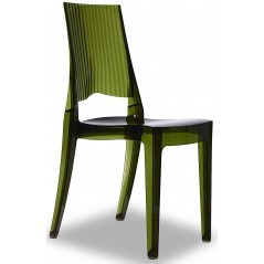 SC Glenda Chair Transparent Bottle Green