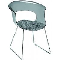 SC Chair Miss B Antishock Sled Smoked Grey