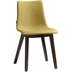 SC Natural Zebra Pop chair Italy with wengé beech frame - Green