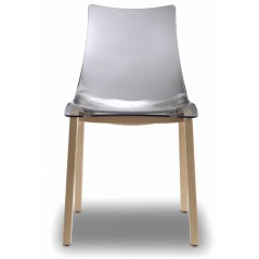 SC NATURAL ZEBRA ANTISHOCK shell chair Clear