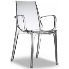 SC Vanity Arm Chair Clear Transparent