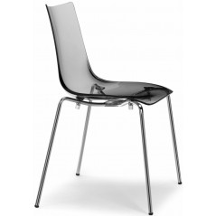 SC Zebra Italy Antishock Chair with 4 legs Transparent Smoked Grey