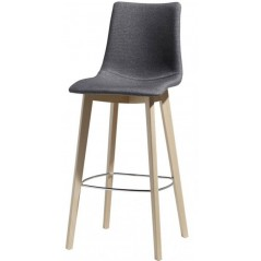 SC NATURAL ZEBRA POP BARSTOOL h. 68 Grey