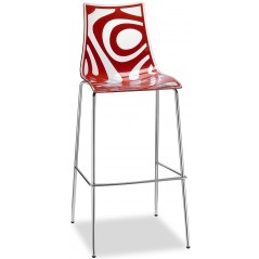 SC Wave Stool Height 80cm Red