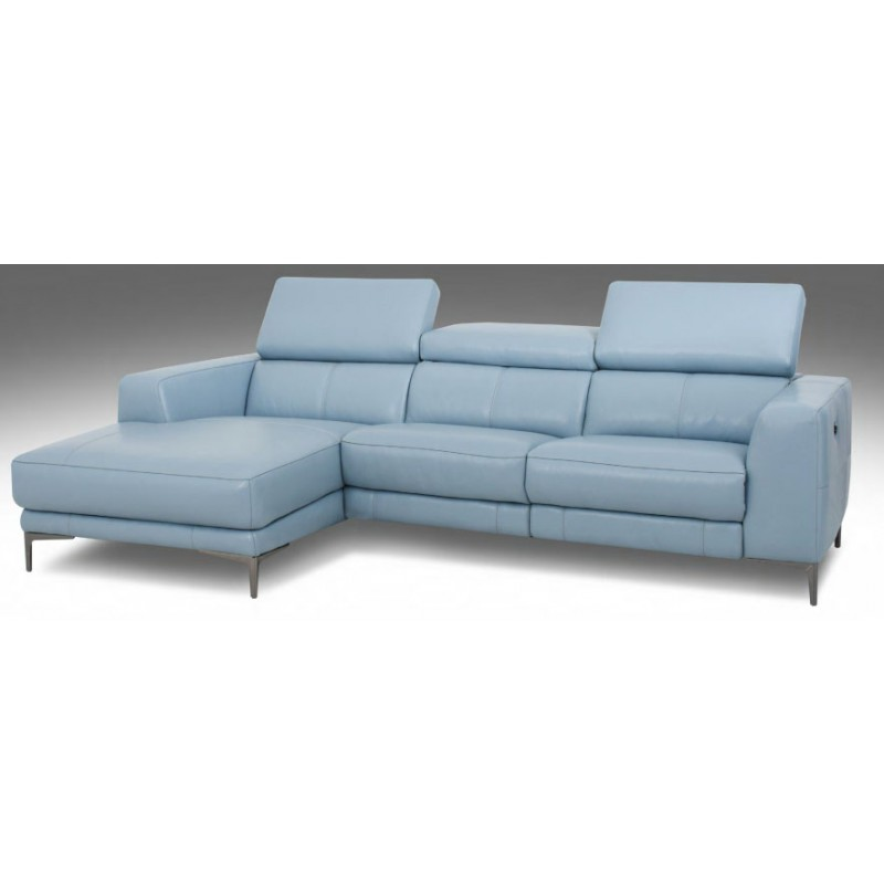 HT Dante L shaped sofa with Power Recliner in Leather