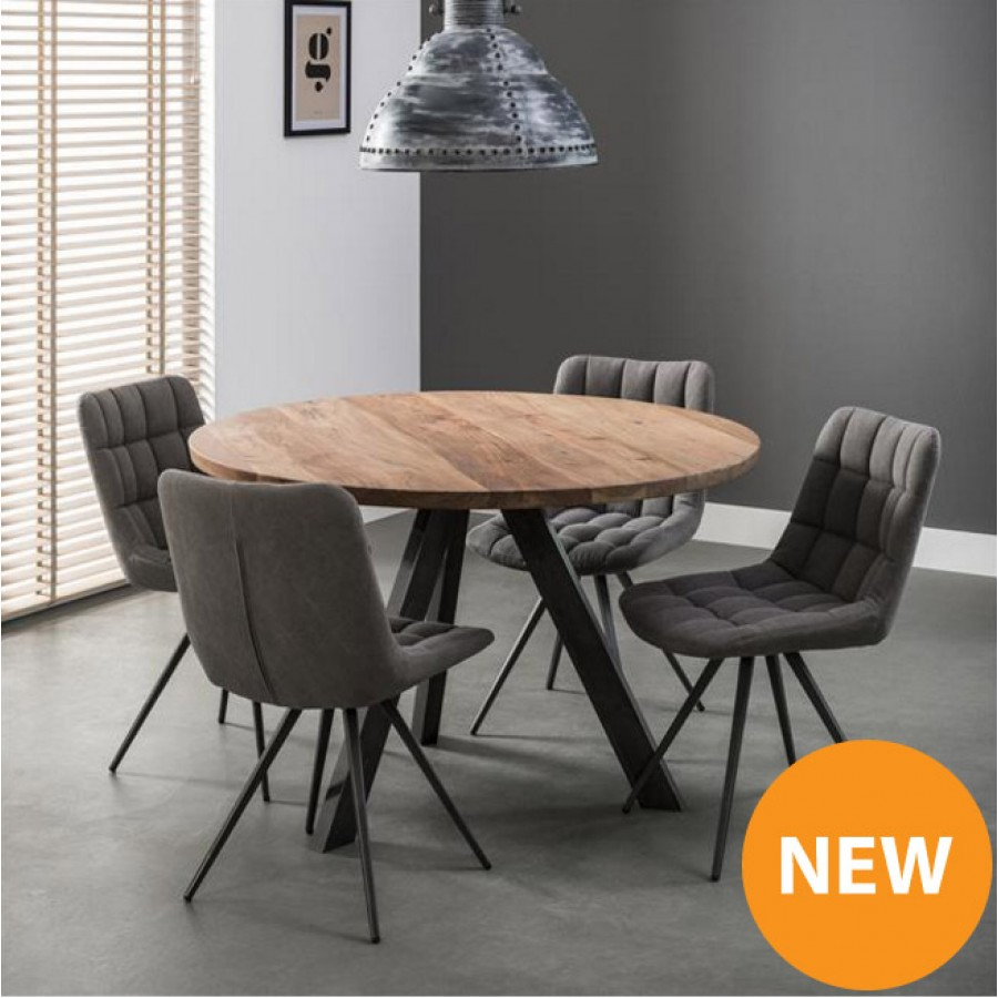 zi essen round dining table 120. Black Bedroom Furniture Sets. Home Design Ideas