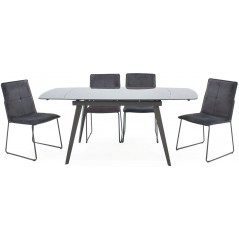 VL-Sab Dining Table Extending 1200-1800 - Grey