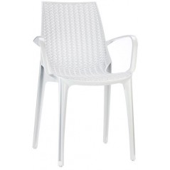SC Tricot Italy Arm-Chair White