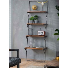 Zi Hanor Wall rack 4 shelves grained