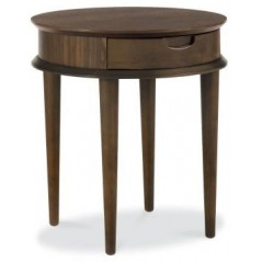 BD Retro Walnut Lamp Table with Drawer