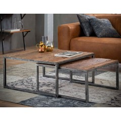Zi Hanor Coffee table set/2 80x80 grained