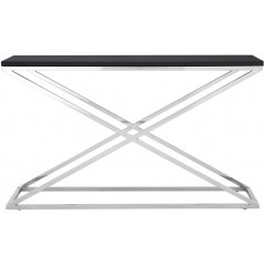 X Black Console Table PW