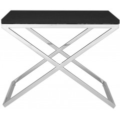 X Side Table Black PW